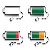Batteries with creative views — Stock Vector