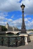 Monument in the edge of the Seine, Paris — Stock Photo