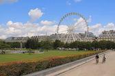 Ferris wheel in Paris, France — Stock Photo