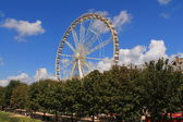 Ferris wheel in Paris, France — Stock Photo