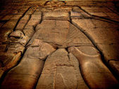 Low relief at the Kom-Ombo temple (Egypt) — Stock Photo
