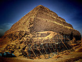 Step Pyramid of Djoser at Saqqara (Egypt) — Stock Photo