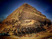 Step Pyramid of Djoser at Saqqara (Egypt) — Foto Stock