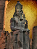 Colossus of Ramses II in the Luxor Temple (Egypt) — Stock Photo