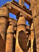Hypostyle Hall detail of Karnak (Luxor, Egypt) — Foto Stock