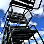 Chairs to heaven — Stock Photo