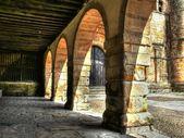 Collegiate Church of Santillana del Mar, arches — Stock Photo