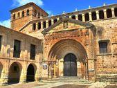 Collegiate Church of Santillana del Mar, entrane — Stock Photo