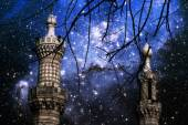 Minarets and stars in the small Magellanic Cloud (Elements of th — Stockfoto
