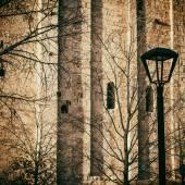 Lamppost in the park — Foto de Stock
