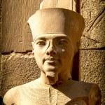 Bust of pharaoh Tutankhamun in Karnak Temple (Luxor, Egypt) — Stock Photo #66798297