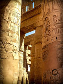 Columns in the Hypostyle Hall at the Temple of Karnak (Luxor, Eg — Stock Photo