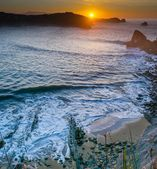 Sunset at Cantabrian coast — Stock Photo