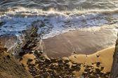 Onde che si infrangono sulla spiaggia — Foto Stock