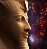 Ramses II and Galactic Center Region (Elements of this image fur — Stock Photo