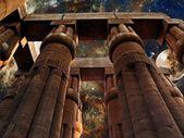 Luxor Temple, Moon and Tarantula Nebula (Elements of this image — Stock Photo