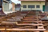 Old shipyard ramp disused — Stock Photo