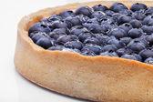 Large round blueberry pie shot close-up — Stock Photo