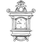 Ilustracja wektorowa mechaniczny zegarek wykonane w stylu retro miniaturę — Wektor stockowy