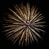 New years eve fireworks — Stock Photo