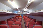 Aircraft cabin of an old airplane — Stock fotografie