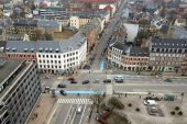 Danish city Frederiksberg seen from above — Stock Photo