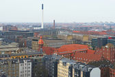 Danish city Frederiksberg seen from above seen from above — Stock Photo