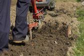 Hand plowing. — Stock Photo