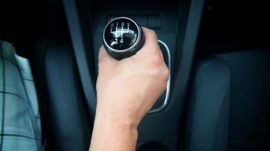 Driver - Driving Car Shifting gears — Stock Video