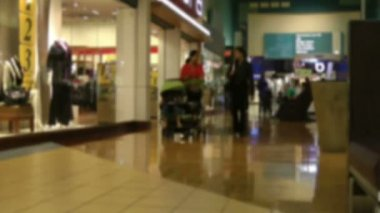 Shopping-Mall - Zeitlupe — Stockvideo