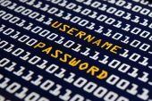Internet login - Username and password — Stock Photo