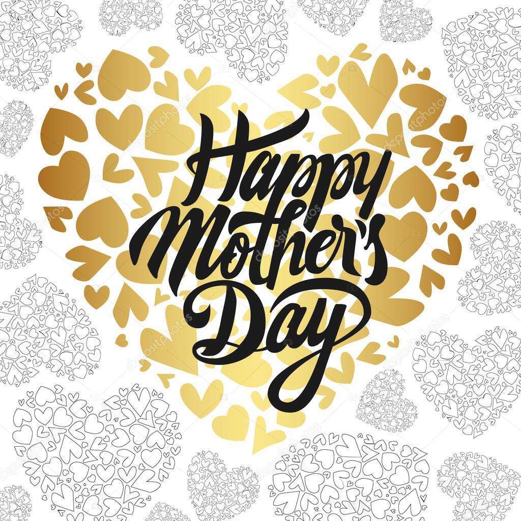 happy mothers day design elements vector illustration invitation
