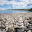 Stones balance on beach — Stock Photo #59428405