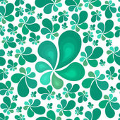 Beautiful seamless green leaf pattern. Vector illustration. — Stockvektor