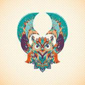 Abstract owl — Stock Vector