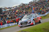 Thierry Neuville, Hyundai motorsport team — Stock Photo