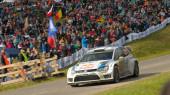 Andreas Mikkelsen, Volkswagen motorsport team — Stock Photo