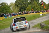 Jari-Matti Latvala, Volkswagen motorsport team — Stock Photo
