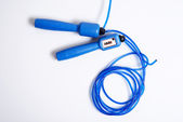 Blue skipping rope — Stock Photo