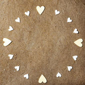 Round frame made of hearts — Stock Photo
