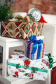 Christmas eve with present gifts — Stock Photo