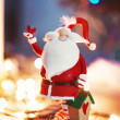 Christmas Room Interior Design, Santa toy — Stock Photo #60858043