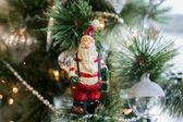 Christmas toys on a tree — Stock Photo