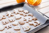 Gingerbread cookies with Christmas attributes — Stock Photo
