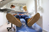 Dental treatment in the dental office — Stock Photo