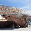 Remains of the old wooden ship — Stockfoto #70449987