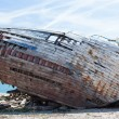 Remains of the old wooden ship — Stockfoto #70451553