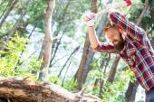 Portrait of an attractive young lumberjack — Stockfoto