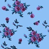 Pattern Roses — Vettoriale Stock
