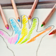 Hand colored, colored pencils — Stock Photo #54372577